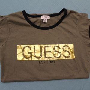Olive Green Guess T-shirt